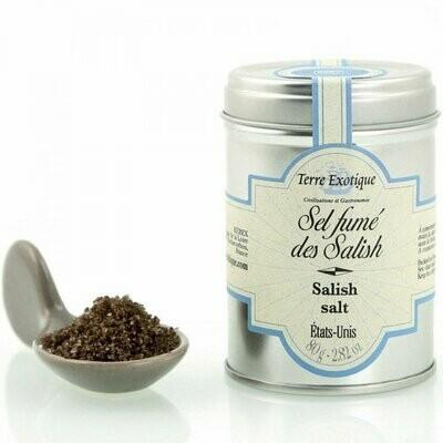 Salish-Intiaanien Savustettu Suola (Washington, Usa) | Salish Smoked Salt | TERRE EXOTIQUE | 80g