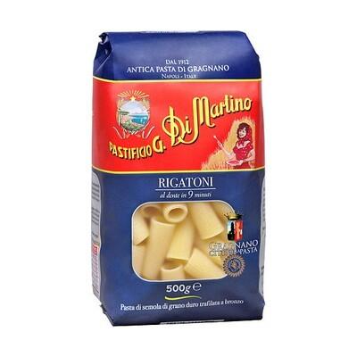 Lyhyt Pasta Rigatoni | Short Shapes Pasta | DI MARTINO | 500 G
