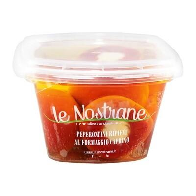 Vuohenjuustolla Täytetyt Paprikat   Caprino Cheese Filled Pepper   LE NOSTRANE   200g