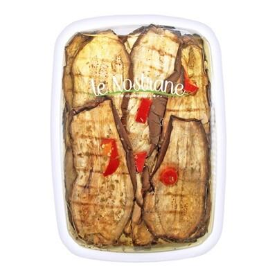 Grillattuja Munakoisoja Öljyssä   Grilled Aubergines   LE NOSTRANE   1kg