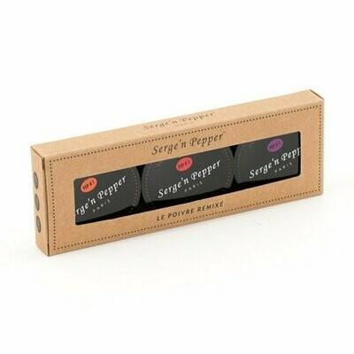SERGE'N PEPPER POP 1-2-3 POCKET PEPPER BLEND TIN 3*15g