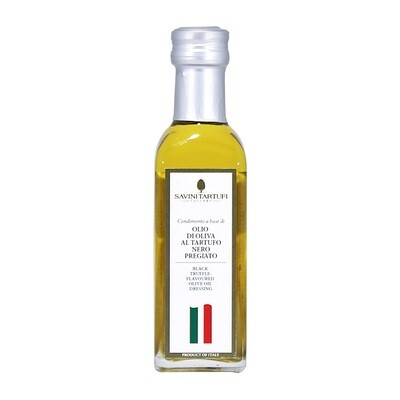 Mustatryffeliöljy | Black Truffle Flavoured Olive Oil | SAVINI TARTUFI | 100 ML