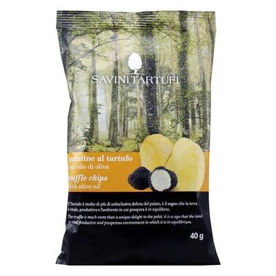 Perunalastut Mustatryffelin Maulla | Truffle Chips | SAVINI TARTUFI | 40g