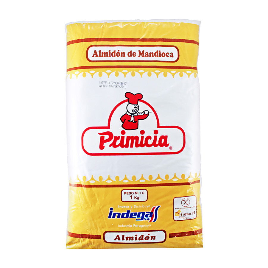 Tärkkelys Maniokki (Yuca)   Mandioca Starch   PRIMISIA   1kg