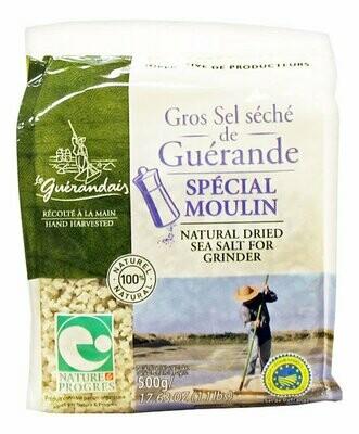 Kuivattu Karkea Suola Suolamyllyyn   Dried Coarse Salt For Mill   SEL DE GUERANDE   500 G