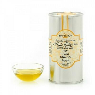 Basilikaoliiviöljy | Basil Flavored Olive Oil | TERRE EXOTIQUE | 150 ML