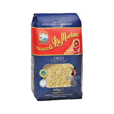 Lyhyt Pasta Orzo | Short Shapes Pasta | DI MARTINO | 500 G