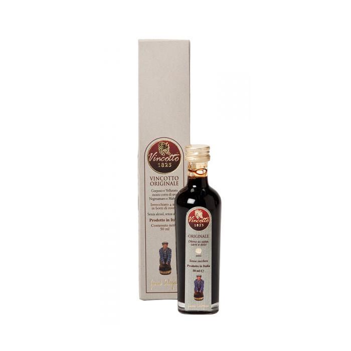 Alkuperäinen Makea Vincotto-Etikkakastike (4 vuotta vahna) | Original Vincotto | CALOGIURI | 50 ML