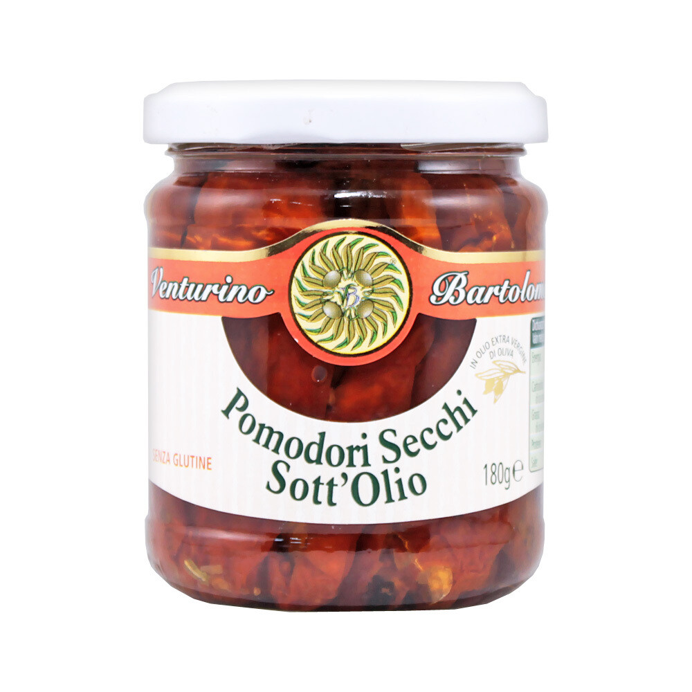 Aurinkokuivatut Tomaatit Öljyssä | Sundried Tomatoes in EVOO | VENTURINO | 180g