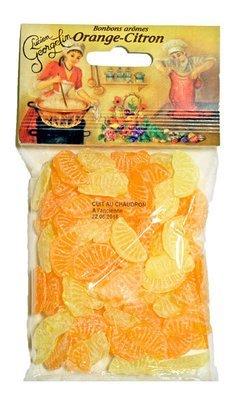 Oranssi & Sitruunakarkit | Orange & Lemon Candies | LUCIEN GEORGELIN | 150 G