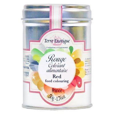 RED (BEETROOT) COLOURING AGENT METAL TIN 50 G