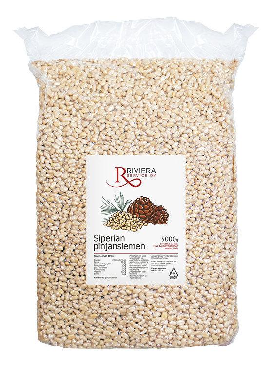 Pinjansiemeniä Luokka:A Koko: 950 | Pine Nuts Kernels | RIVIERA SERVICE | 5 KG