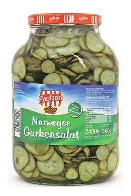 Norjalaiset Suolakurkut Salaatti   Norwegian Gherkins Salad   ALFRED PAULSEN   2650 ML