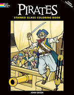 Pirate Stained Glass Coloring Book DGNA9MDBFVJ6T