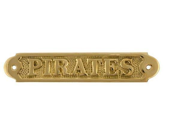 Pirate Plaque Brass 6CDF4HWDW6J9R