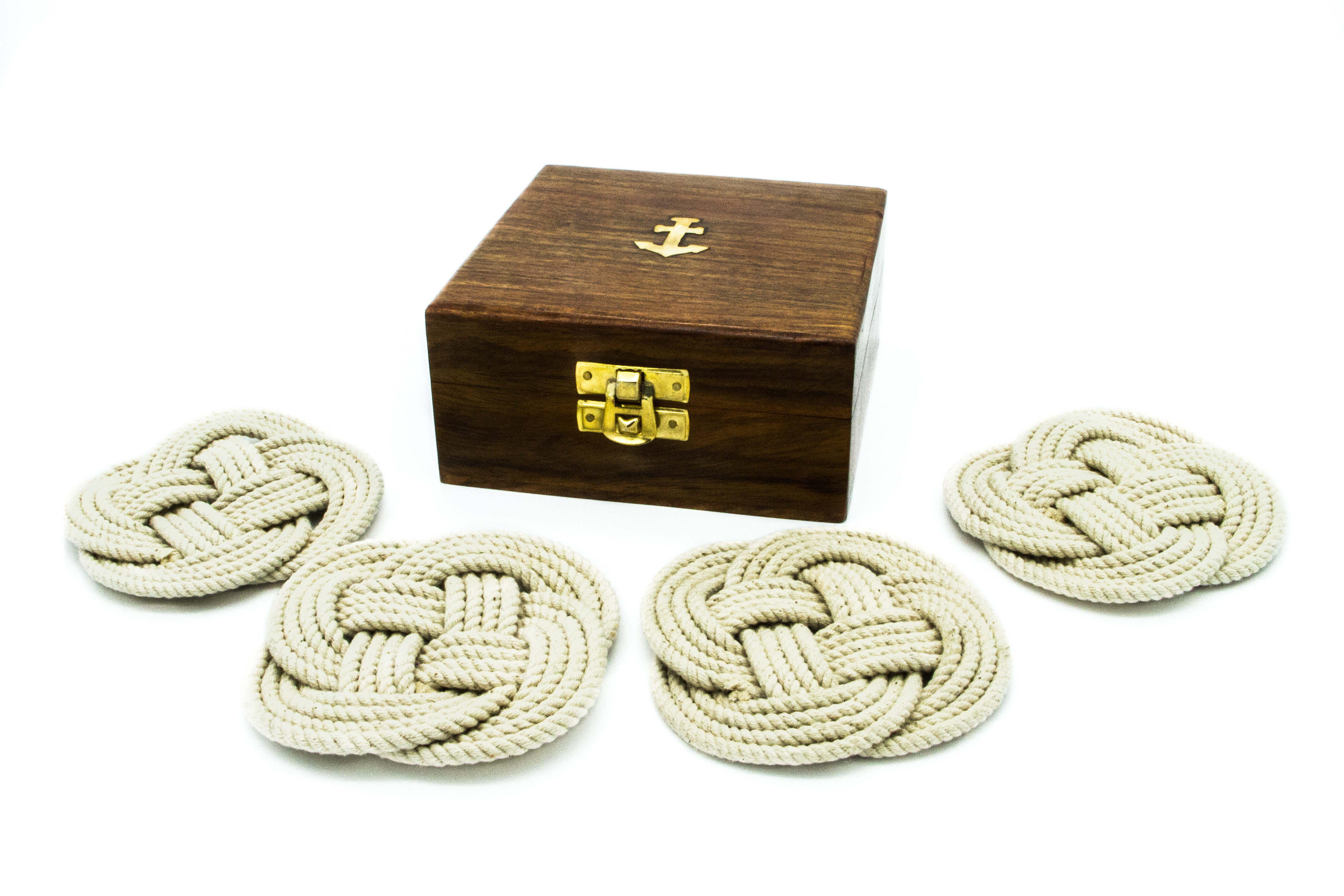 Anchor Box with 4 coasters 00014