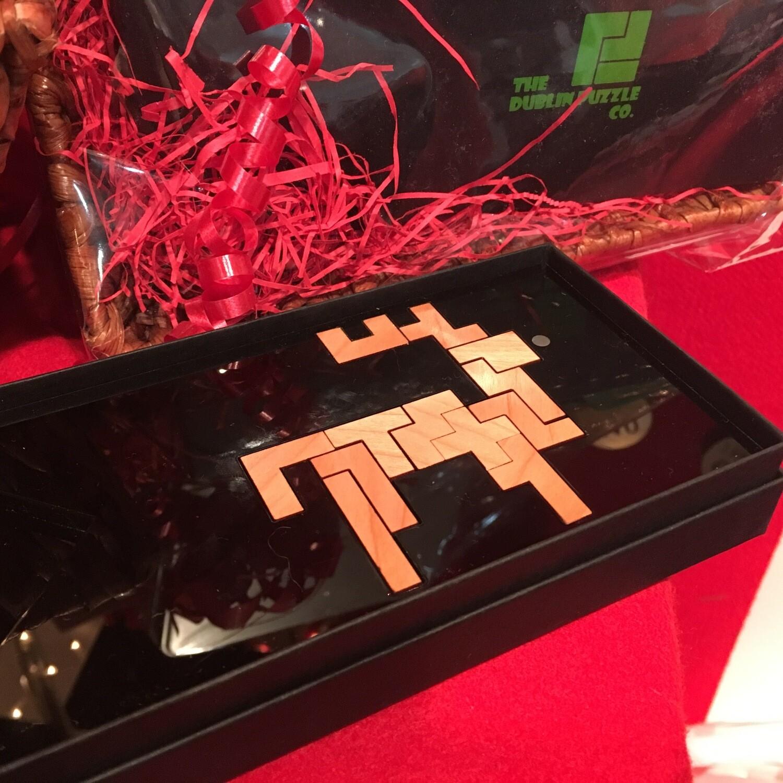Wooden Brainteaser Reindeer Puzzle