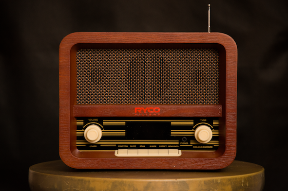 Retro Radio with Aux Outlet
