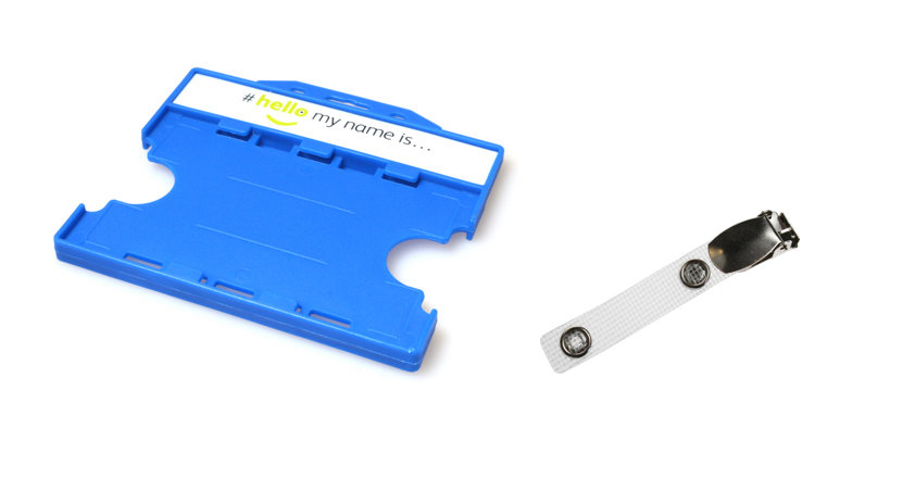 #hellomynameis Dual Sided Card Holder with Lever Clip