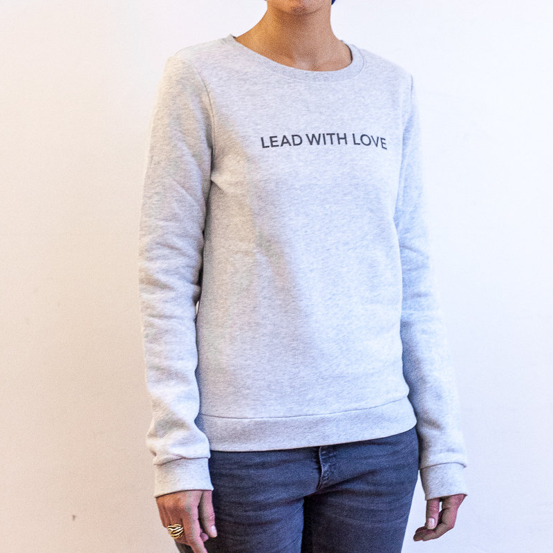 LEAD WITH LOVE by The Lovers, Sweater – grau / Druck grau