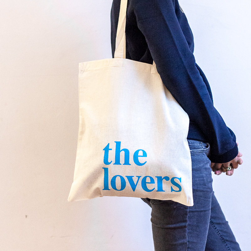 THE LOVERS BAG – neon blau