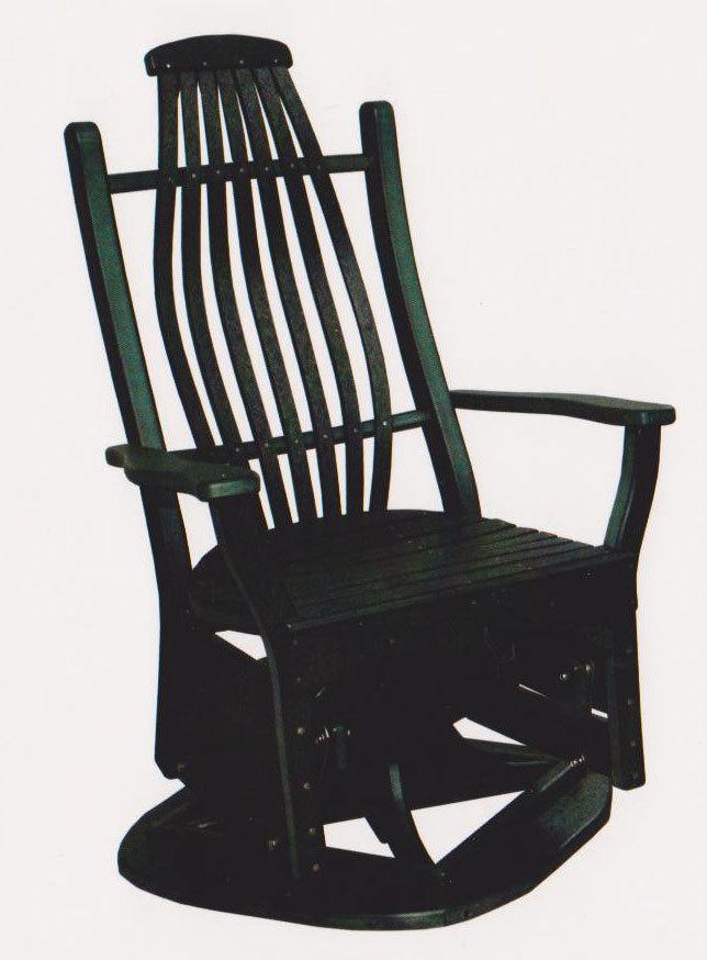 Bentwood Swivel Glider Chair Byler's Outdoor 420