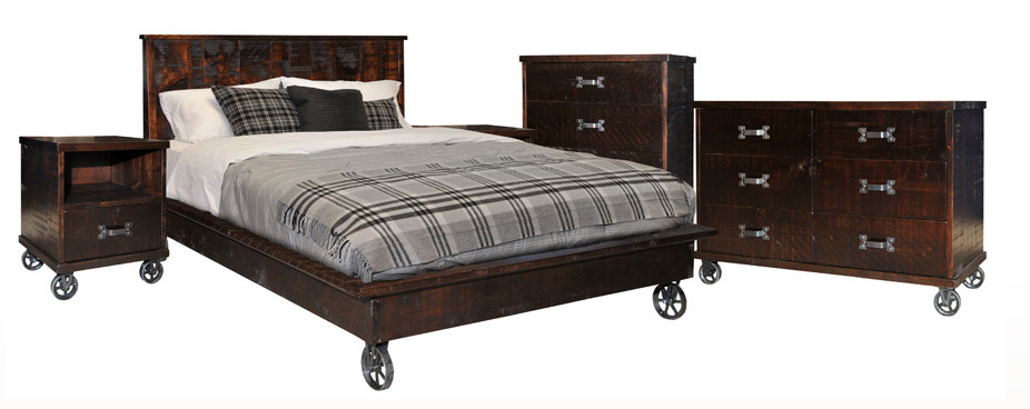 Steam Punk Bedroom Set by Ruff Sawn SP4PQ