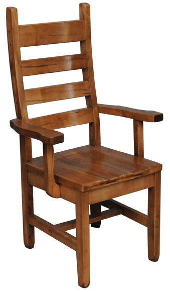 Rustic Ladder Back Arm Chair by Ruff Sawn ACRL