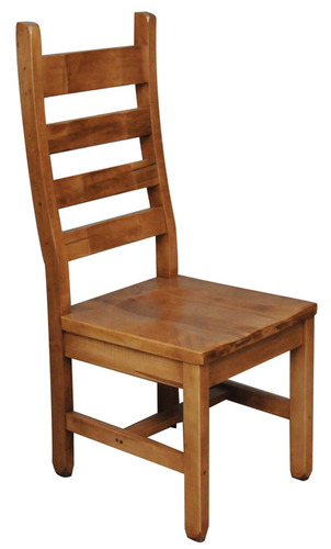 Rustic Ladder Back Side Chair Splined Seat by Ruff Sawn SCRL
