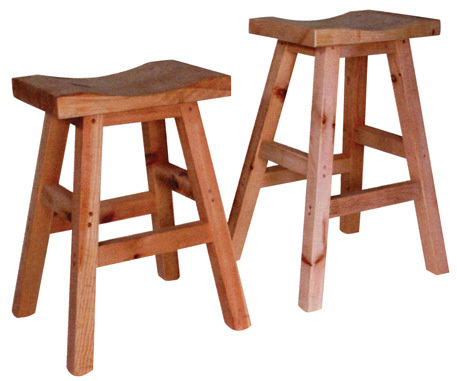 Rustic Saddle Stool by Ruff Sawn ss24/26/30