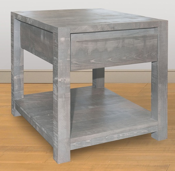 Meta Sequoia End Table by Ruff Sawn msen2421