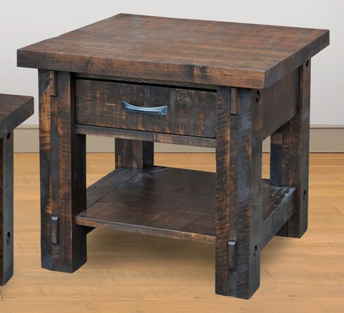 Timber End Table by Ruff Sawn ten2426