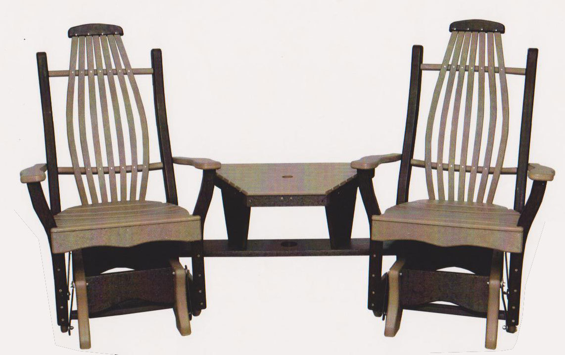 Byler's Outdoor Bentwood Angled Settee with removable insert 440