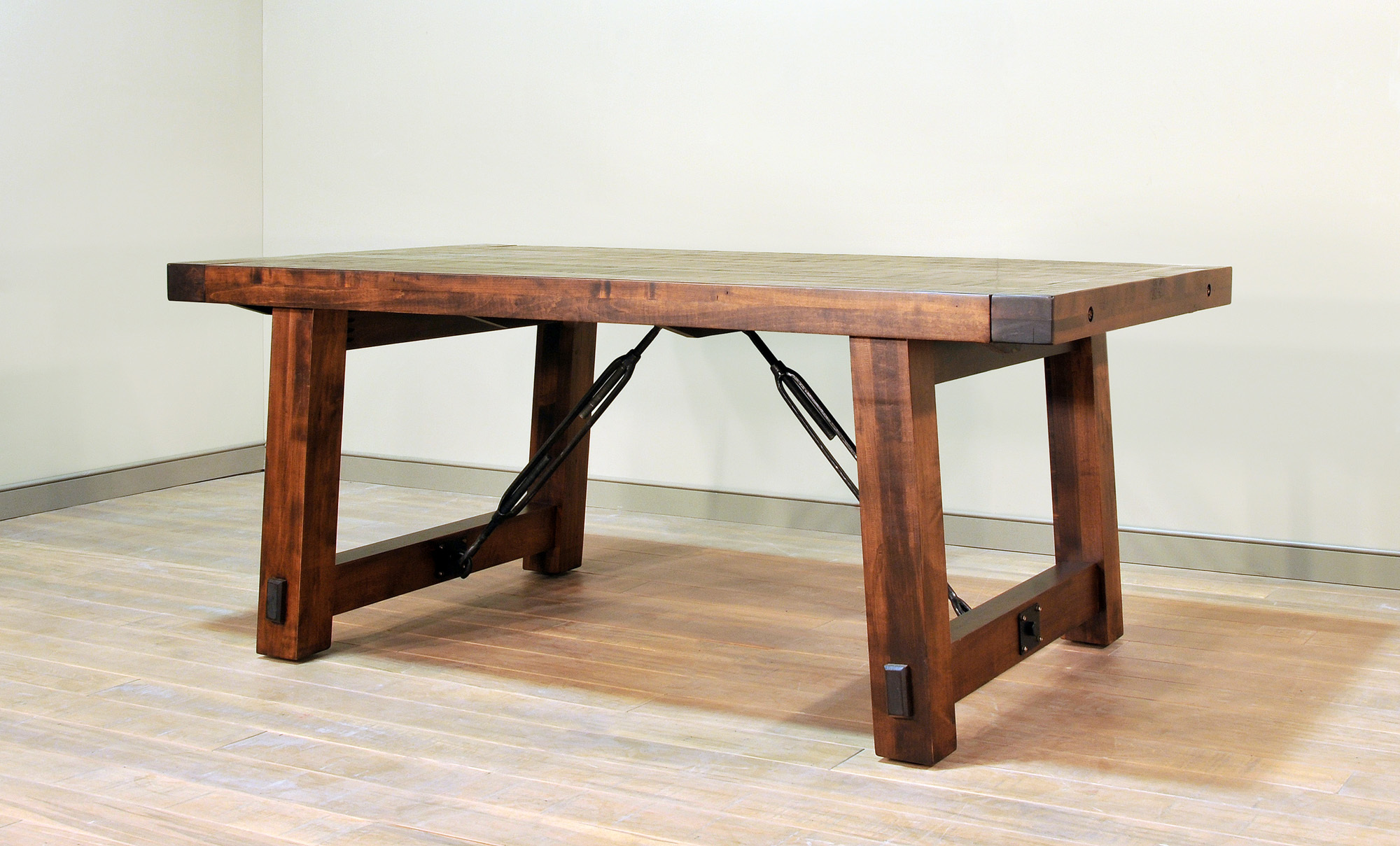 Benchmark Dining Table by Ruff Sawn bm4260st