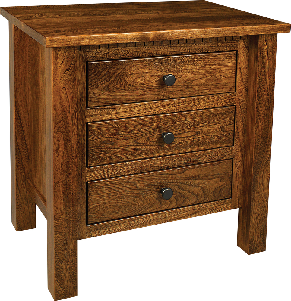 Lindholt 3 drawer Night Stand by Farmside Wood