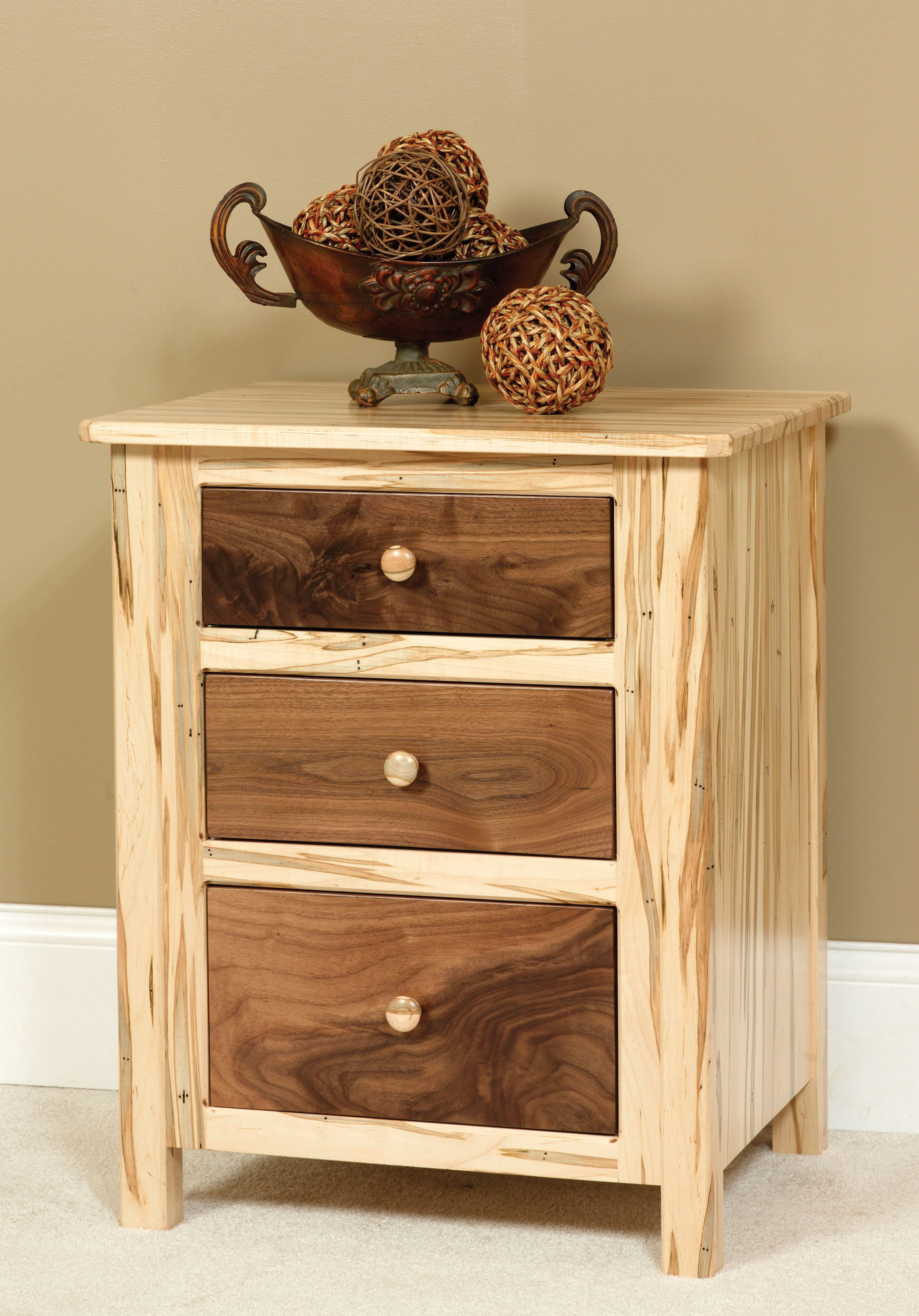 Cornwell 3 Drawer Night Stand by Farmside Wood 2