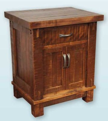 Timber Drawer Door Nightstand by Ruff Sawn