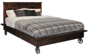 Steam Punk Platform Queen Bed by Ruff Sawn