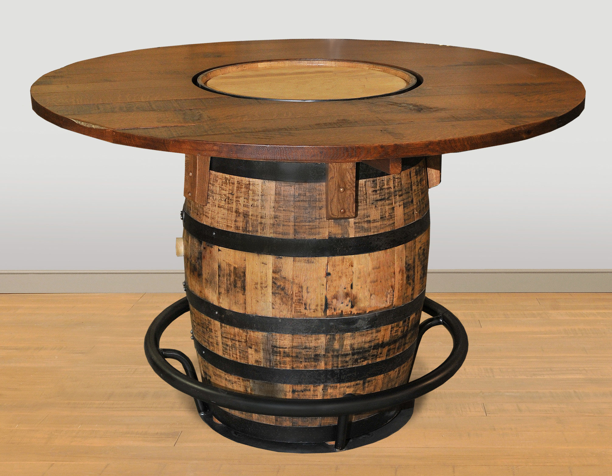 Whiskey Barrel Pub Table by Ruff Sawn jdpt5436