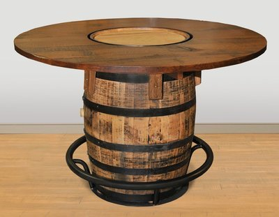 Whiskey Barrel Pub Table by Ruff Sawn