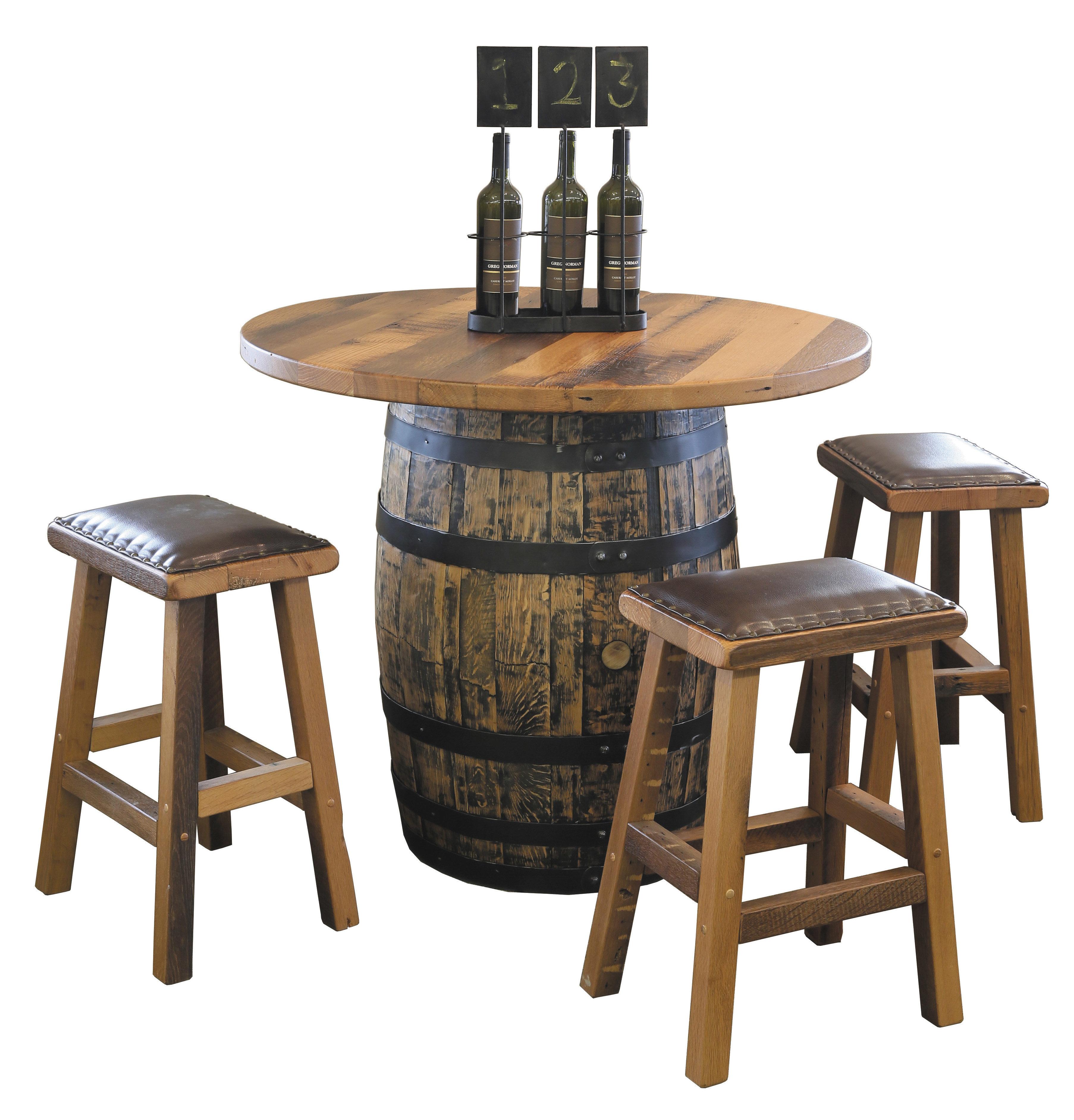Urban Barnwood Barrel Pub Table 181-R24