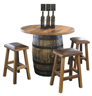 Urban Barnwood Barrel Pub Table