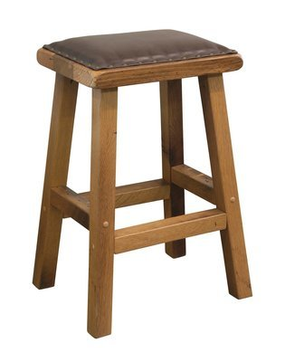 Urban Barnwood Barnwood Barstool Leather Seat