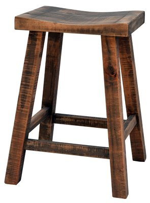 Muskoka Saddle Stool by Ruff Sawn