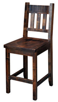 Muskoka Slat Back Bar Chair by Ruff Sawn