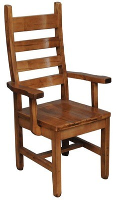 Rustic Ladder Back Arm Chair by Ruff Sawn