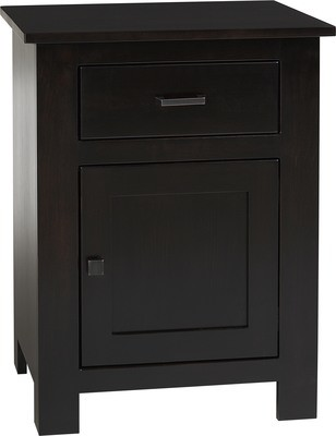 Horizon Shaker Farmside Wood 101 1 Drawer 1 Door Night Stand