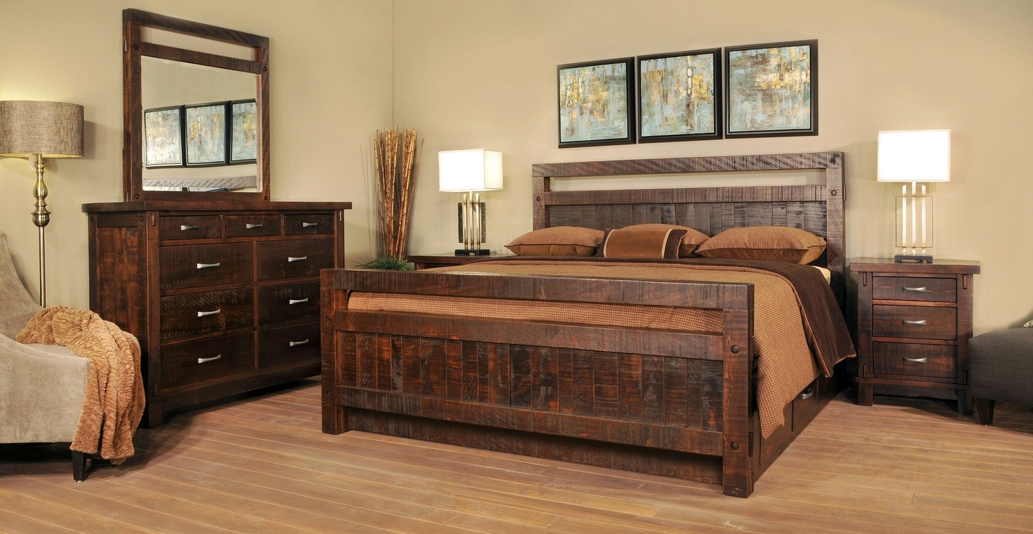 Timber Bedroom Set by Ruff Sawn