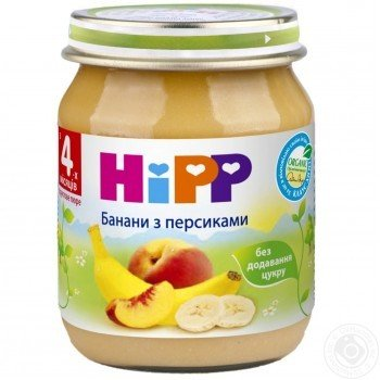 Hipp пюре персик- банан 125г (4мес)