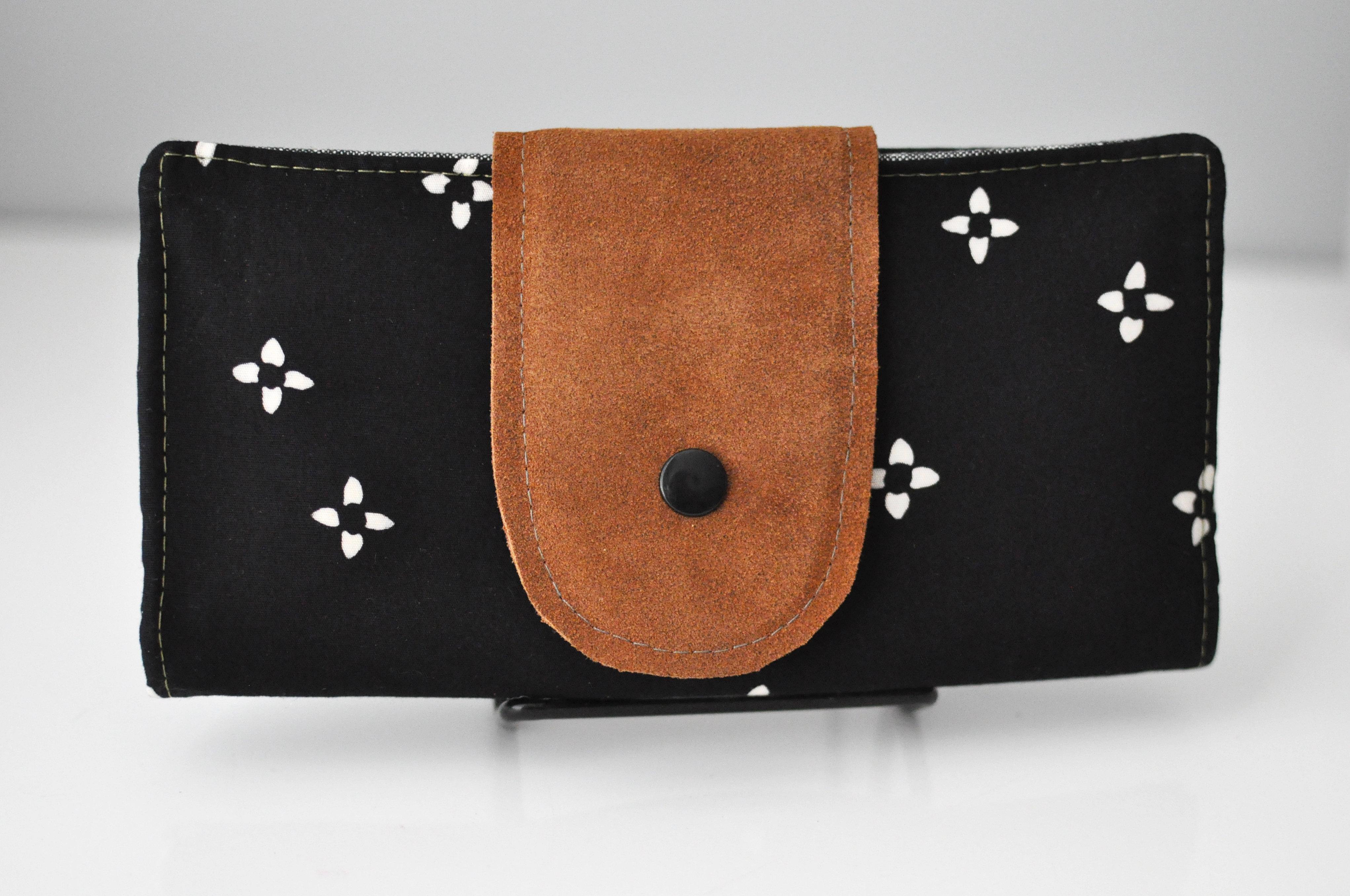 Perfect Wallet   Black Floral 00057
